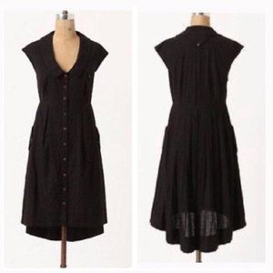 Anthro Postmark 2 black Four Cornors Dress